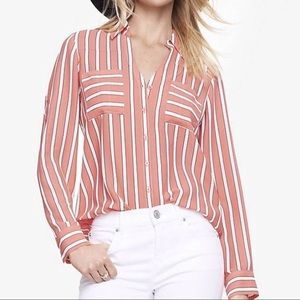 Express Original Fit Striped Portofino Shirt